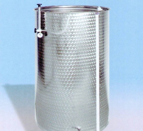 Inoxvat met drijvend deksel 200L