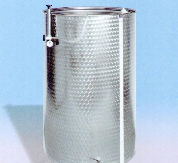 Inoxvat met drijvend deksel 600L