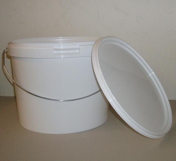 Seau plastic avec couvercle 11,1 litres