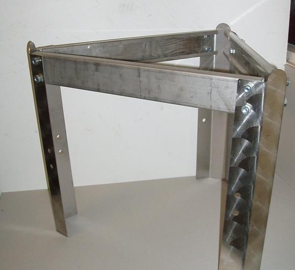 Sokkel voor inoxvat 150/200L Ø525mm