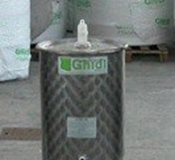 Inoxvat met conische bodem 100L