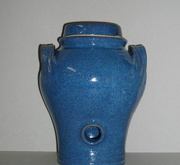 Vinaigrier en terre cuite 5L Saphir (bleu)
