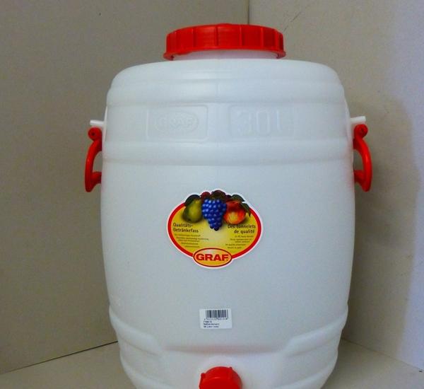 Kunststofvat Graf 30 liter rond