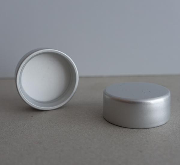 Schroefdop 35,5 x 16 zilver