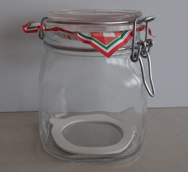 Steriliseerbokaal 750ml.