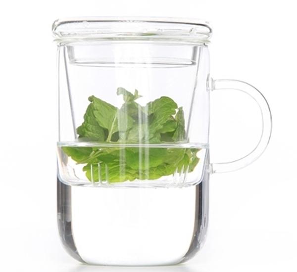 Verre de thé et passoire avec couvercle 47cl