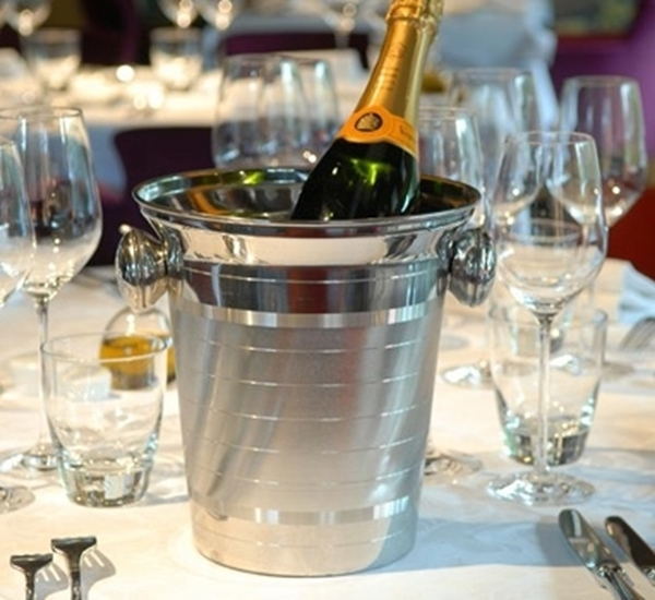Wijn-champagnekoeler bol handvat