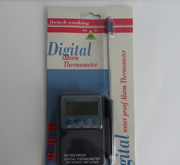 Thermometer digitaal -50+200 kabel 1m waterproof