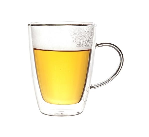 Tasses à thé à double paroi en verre 25cl 2p.
