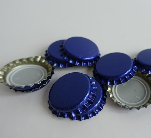 Kroonkurk 26mm blauw 100st