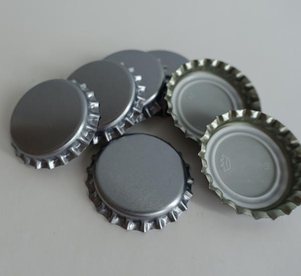 Kroonkurk 26mm zilver 100st