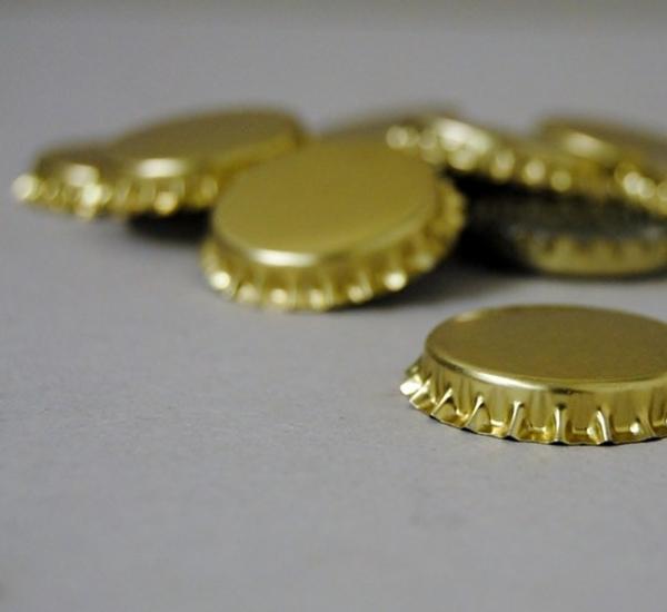 Kroonkurk 26mm goud 100st