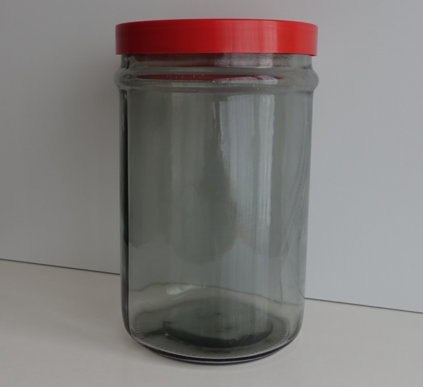 Bokaal 5 liter met rood schroefdeksel