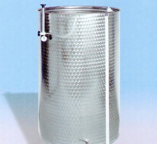 Inoxvat met drijvend deksel 60L