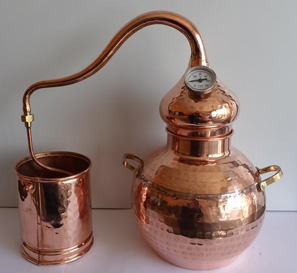 Alambic en cuivre  3 l avec thermomètre