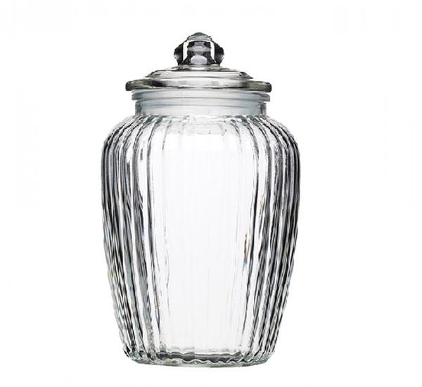 Bocal fantaisie 2,2L avec couverlce en verre