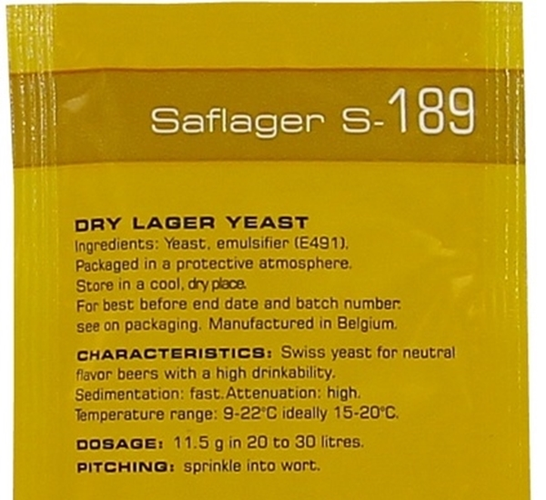 Biergist Saflager S-189 11,5g