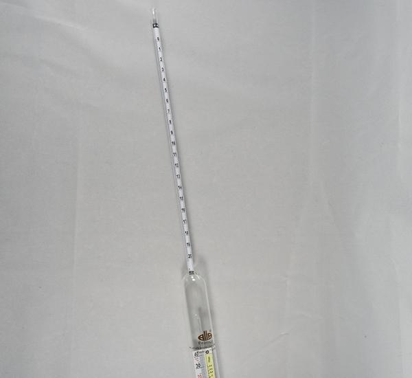 Hydrometer Plato 0-20 met thermometer