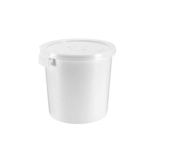 Seau plastic avec couvercle  25 litres