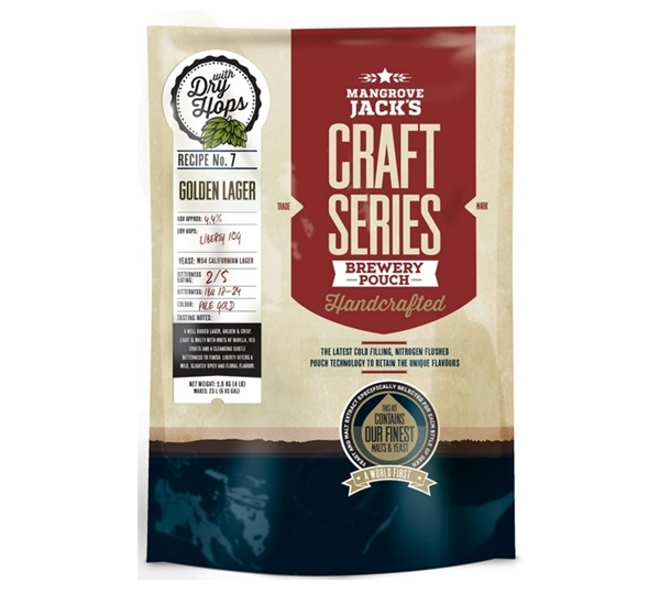 MJ Craft Series Golden Lager met dry hops 1,8kg