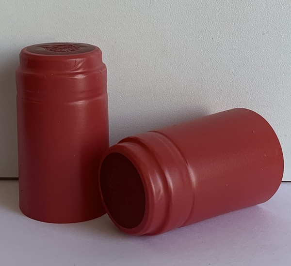 Capsules thermorétractable rouge mat 100p