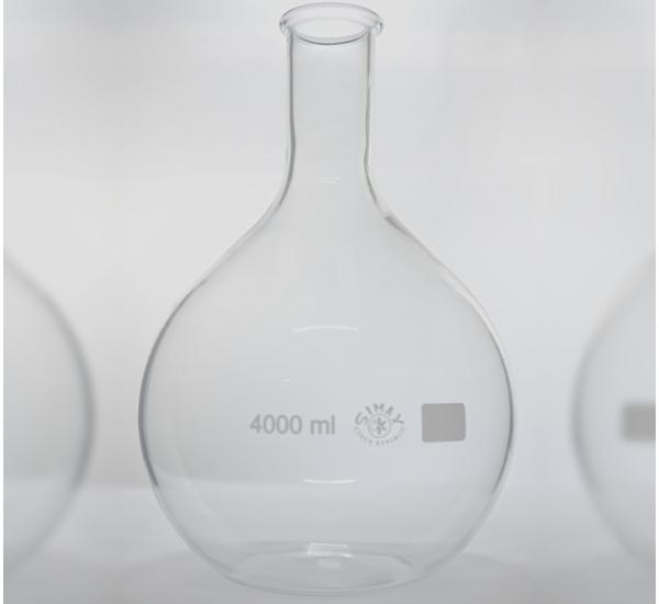 Ballon verre pyrex fond plat 4000ml