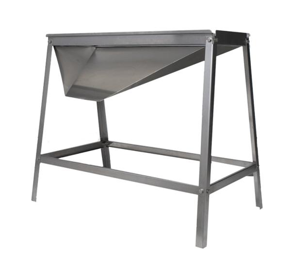 Table inox pour egrappoir fouloir