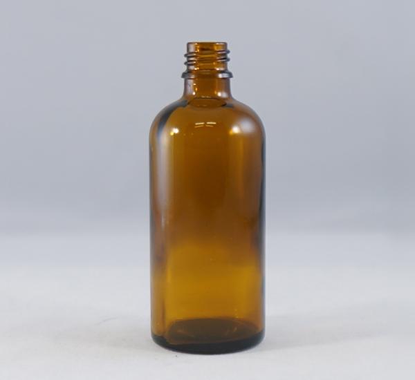 Bouteille verre brune 100ml sans bouchon (16mm)