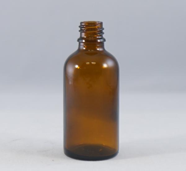 Fles 50ml bruin glas zonder dop (16mm)