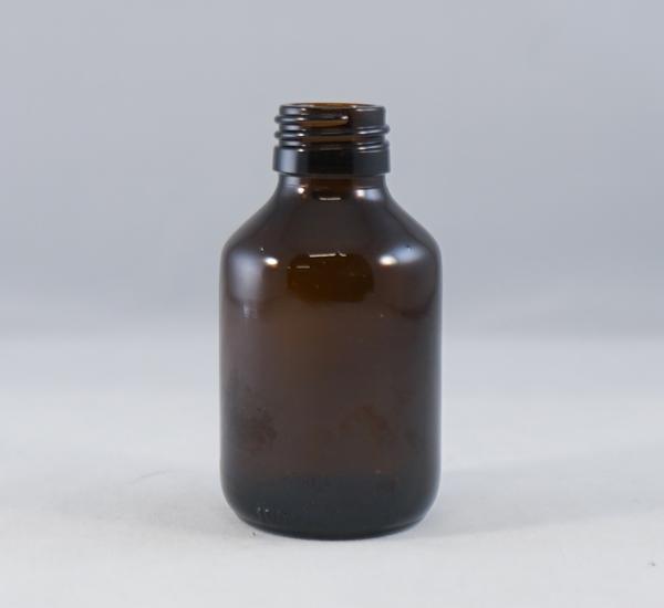 Fles 100ml bruin glas zonder dop (28mm)
