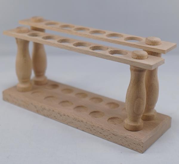 Porteur en bois pour 12 tubes à essais (2x6)