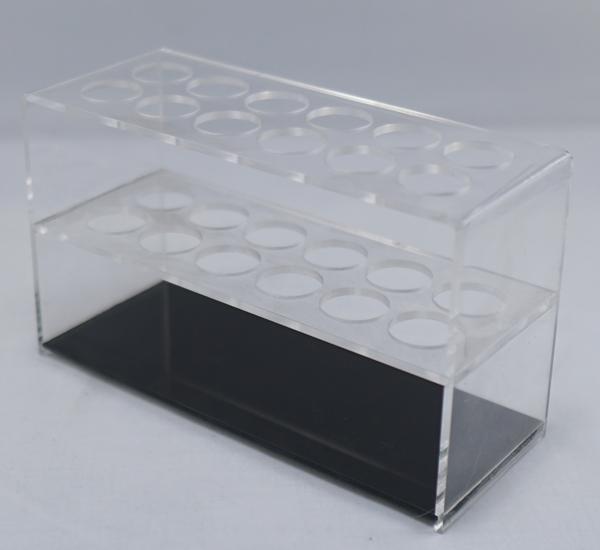 Porteur pour 12 tubes à essais (2x6) plexi