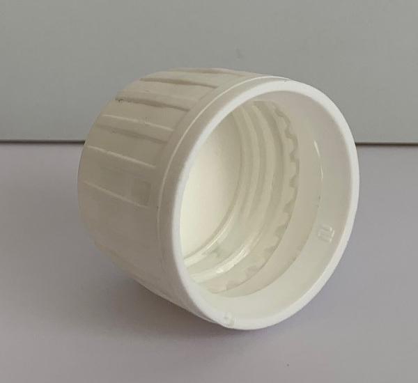 Witte verzegelbare dop 28mm