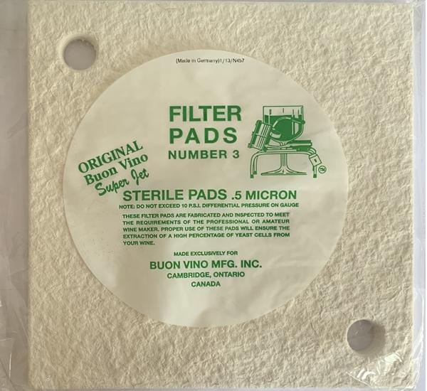 Plaques filtrantes pour super jet stérile 3p