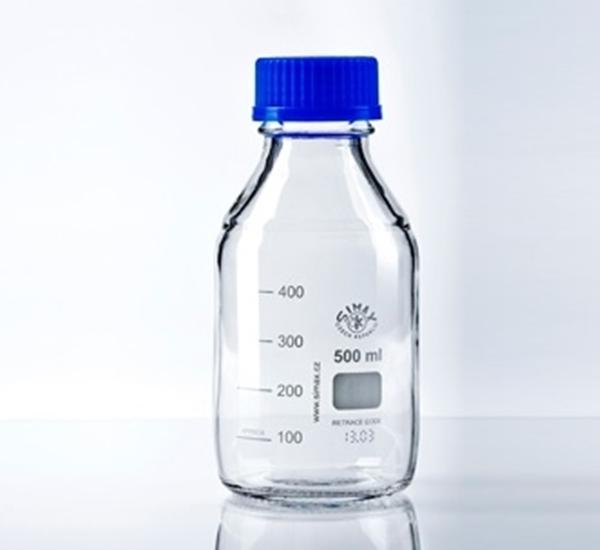 Maatfles ISO 500ml met steriliseerbare dop
