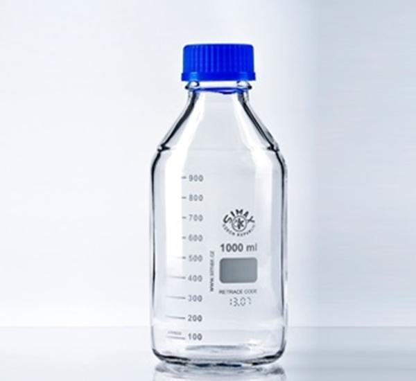 Maatfles ISO 1L met steriliseerbare dop