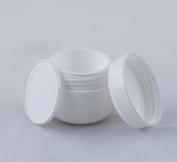 Pot cosmetique 5ml plast blanc avec sous-couvercle