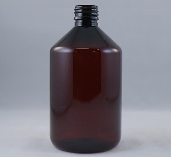 Fles pet bruin 500ml zonder dop (28mm)