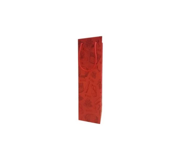Emballage cadeau pochette rouge avec impression 1 btl