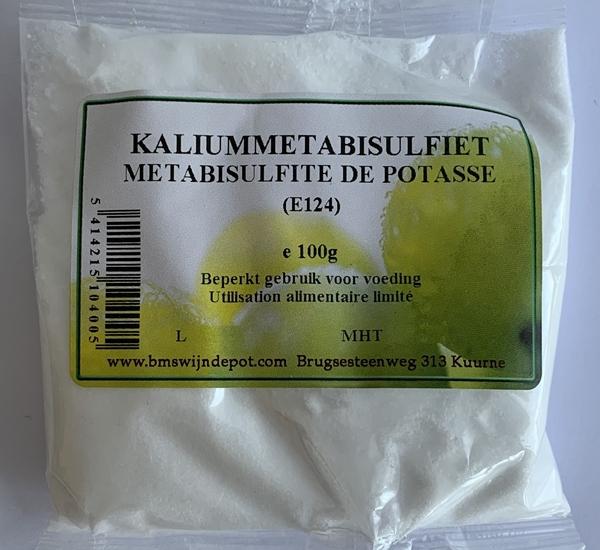 Métabisulfite de potasse (E224) 100g